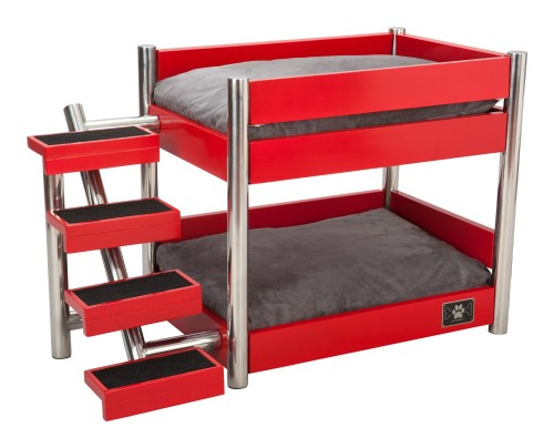 Stairs for dogslazybonezz metropolitan pet bunk bed review for Pet bunk bed gallery